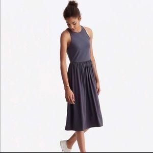 Lou & Grey Mixed Media Midi Dress Small S